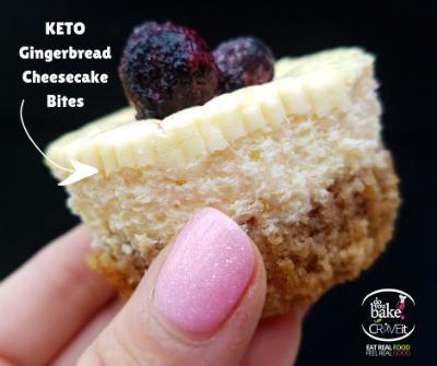 KETO Gingerbread Cheesecake Bites Recipe