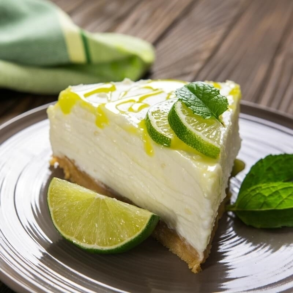 Picture of Key Lime No Bake Protein Cheesecake