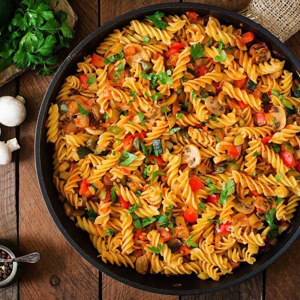 Picture of HOT Tomato & Herb Aglio E Olio Pasta To… COLD & Creamy Broccoli Pasta Salad