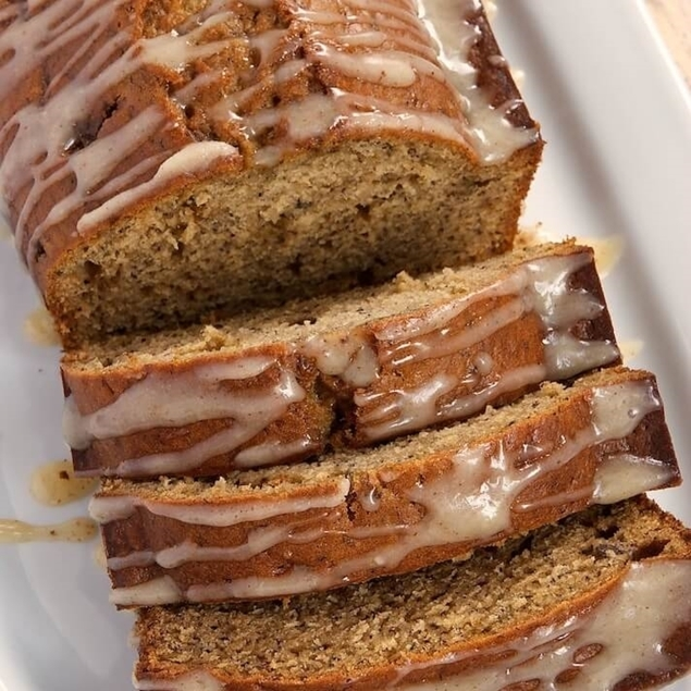 Picture of Salted Caramel Drizzle Top Banana Bread