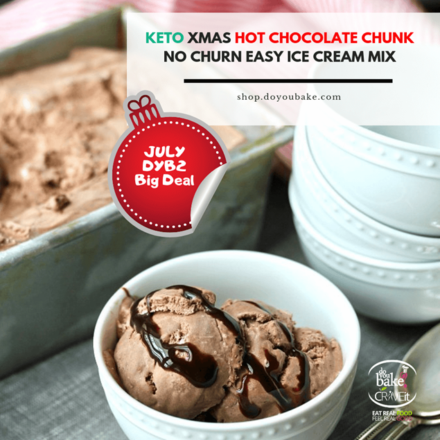 Picture of KETO Xmas Hot Chocolate Chunk No Churn Easy Ice Cream Mix
