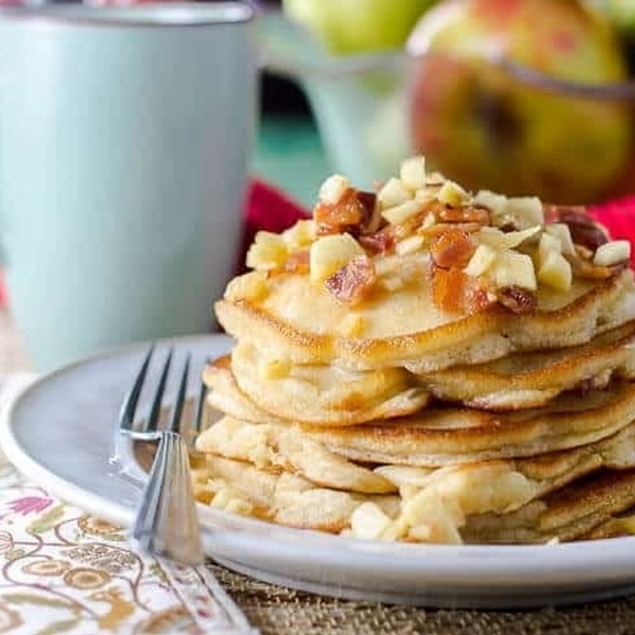 Picture of Bacon Apple Flip Flop Flapjacks