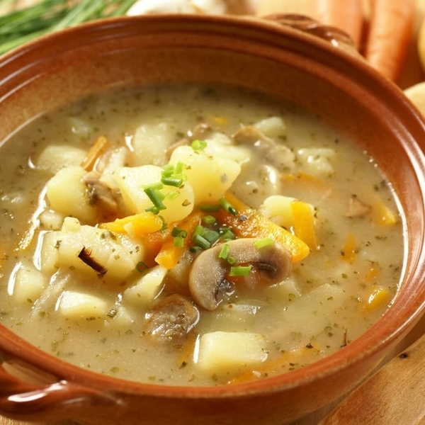 Picture of Baked Potato, Carrot & Onion Soup