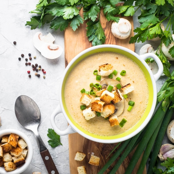 Shop With Do You Bake?. Creamy Mushroom & Chicken Soup