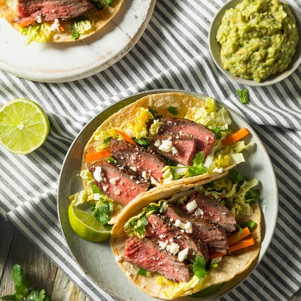 Picture of 15 Minute Stir Fried Cilantro Lime Steak Tacos with Chimichuri