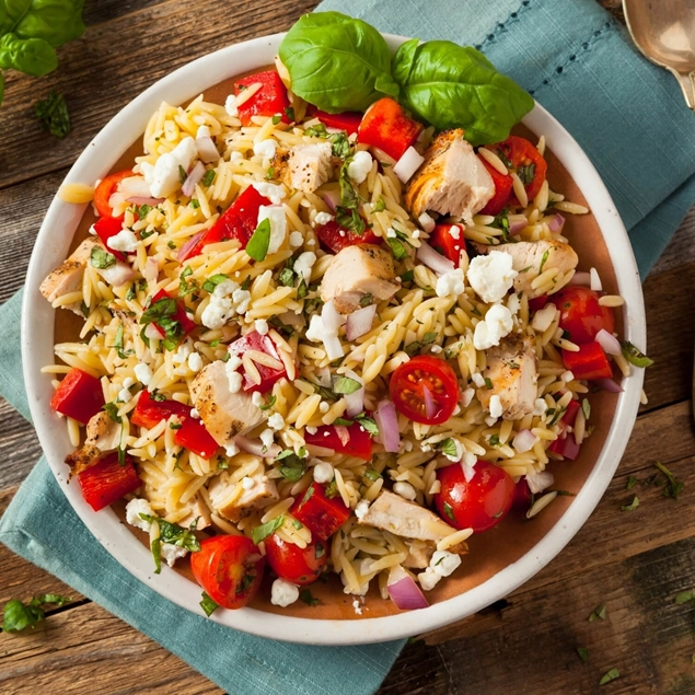 Picture of Lemon Butter Garlic Chicken over Orzo