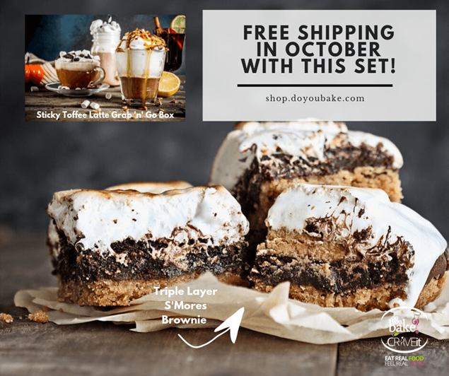Picture of Triple Layered S'mores Brownie + Latte Combo