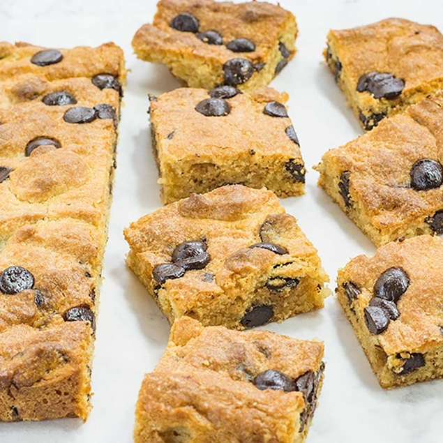 Picture of KETO + Sugar Free Chocolate Chip Peanut Butter Blondies